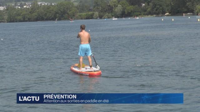 Attention aux sorties en paddle en été
