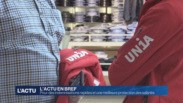 Unia demande des indemnisations rapides
