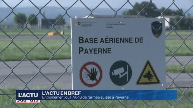 Entraînement du F/A-18 de l'armée suisse à Payerne