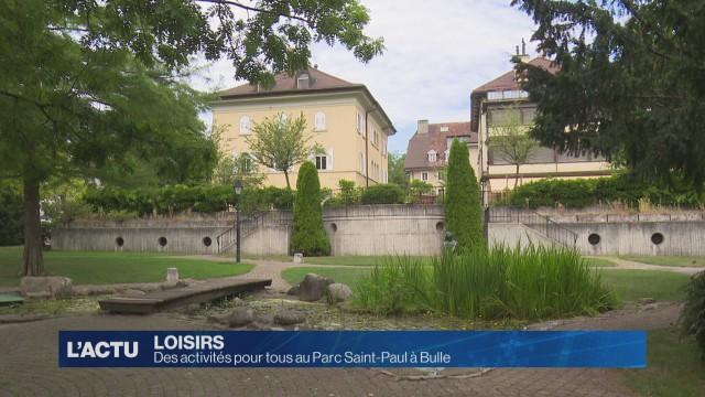 Le Parc Saint-Paul de Bulle s'anime durant l'été