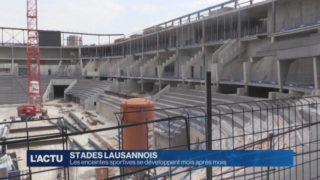 Les enceintes sportives de Lausanne se développent