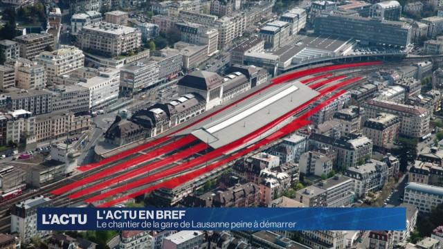 Le chantier de la gare de Lausanne peine à démarrer
