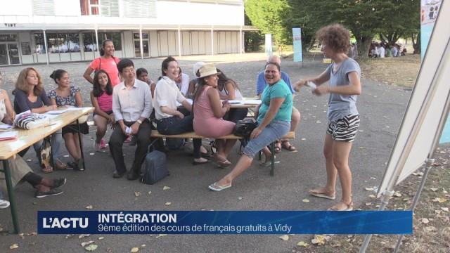 9ème édition des cours de français gratuits à Vidy-Plage