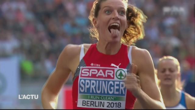Lea Sprunger en finale du 400 m haies
