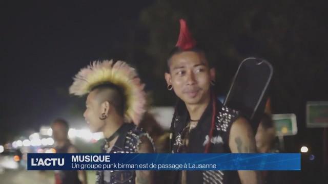 Un groupe punk birman est de passage à Lausanne