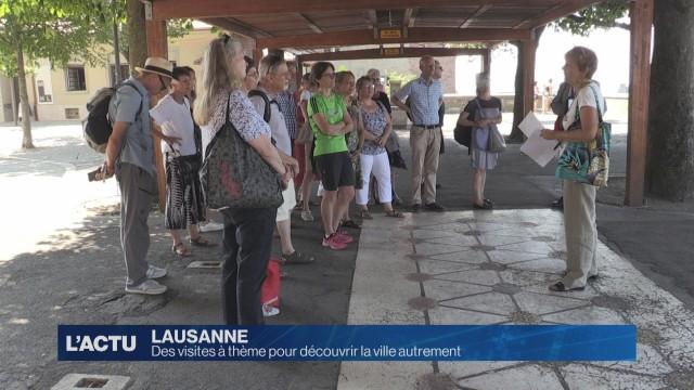 Des visites à thème pour découvrir Lausanne autrement
