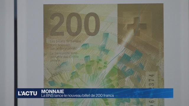 La BNS lance le nouveau billet de 200 francs