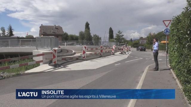 Un pont fantôme agite les esprits à Villeneuve