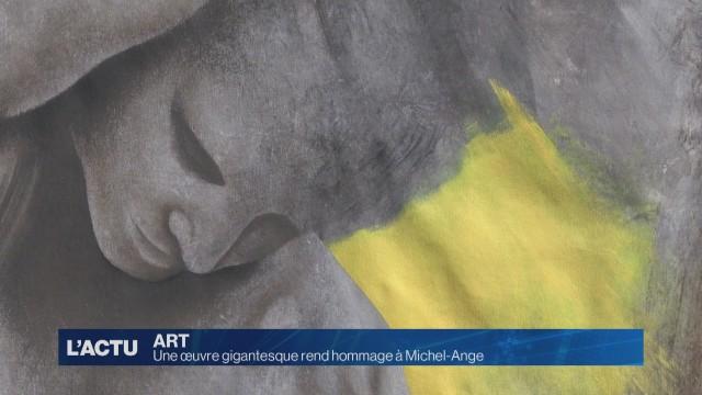 Une œuvre gigantesque rend hommage à Michel-Ange