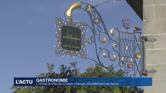 L'Hôtel de Ville de Crissier change officiellement de mains
