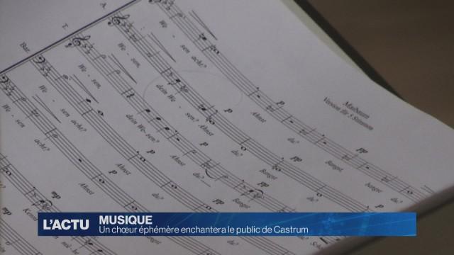 Un chœur éphémère enchantera le public de Castrum