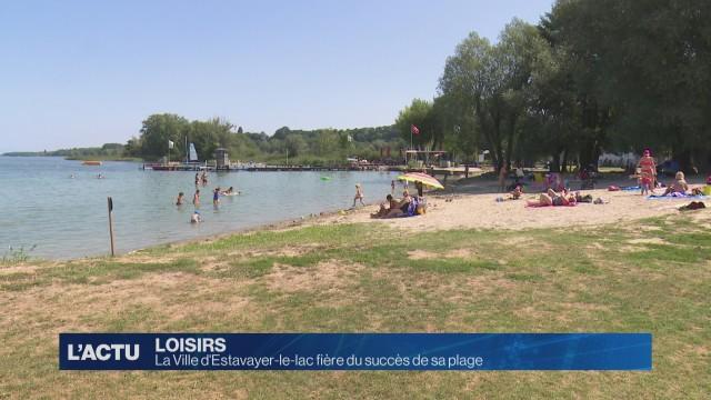 La Ville d'Estavayer-le-lac fière du succès de sa plage