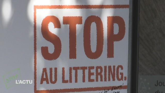 Action contre le littering à Lausanne