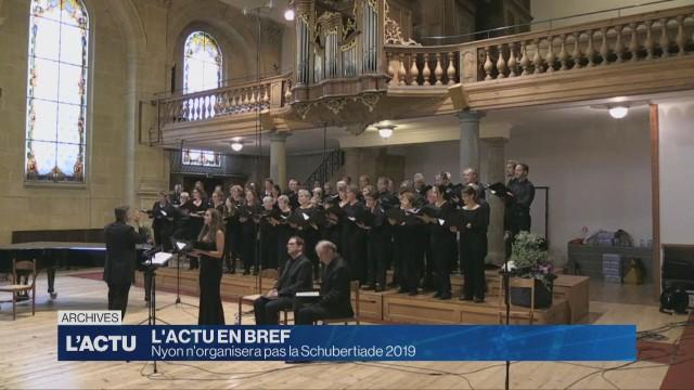 Nyon n'accueillera pas l'édition 2019 de la Schubertiade