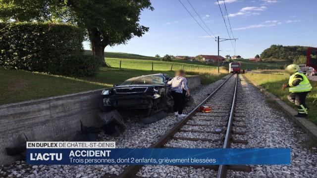 Grave accident de la circulation à Châtel-St-Denis
