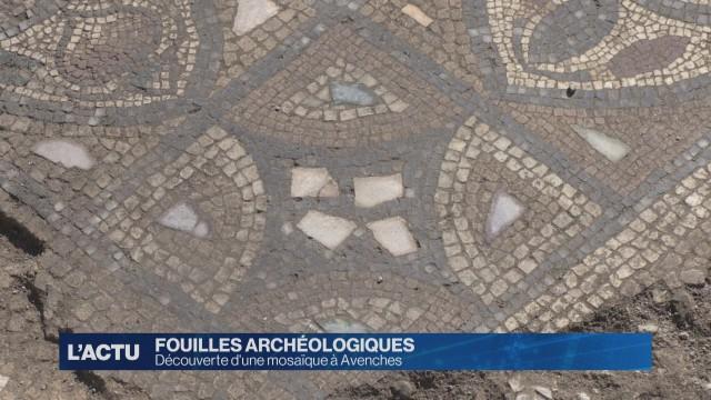 Une mosaïque atypique découverte à Avenches