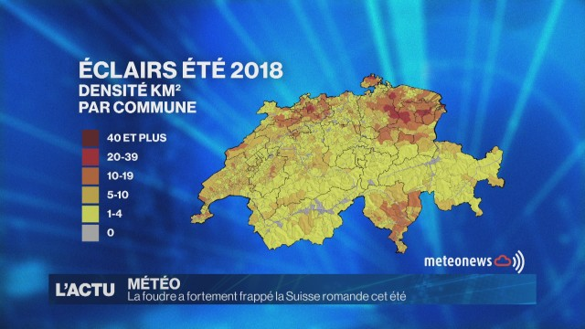 La foudre a frappé fortement la Suisse romande cet été
