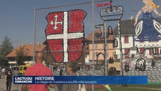 Le village de Vuadens a soufflé mille bougies