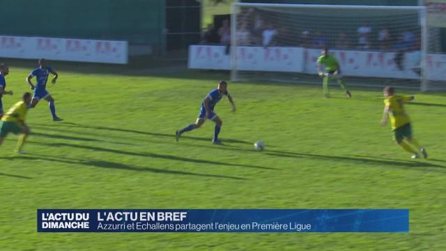 Azzurri et Echallens partagent l'enjeu en Première Ligue
