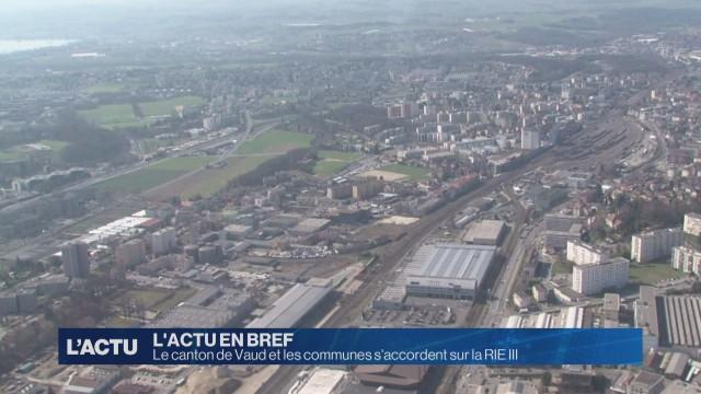 Vaud et les communes s'accordent sur la RIE III