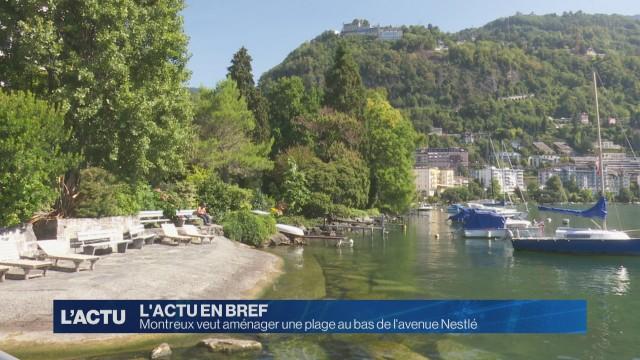 Nouveau projet de plage à Montreux