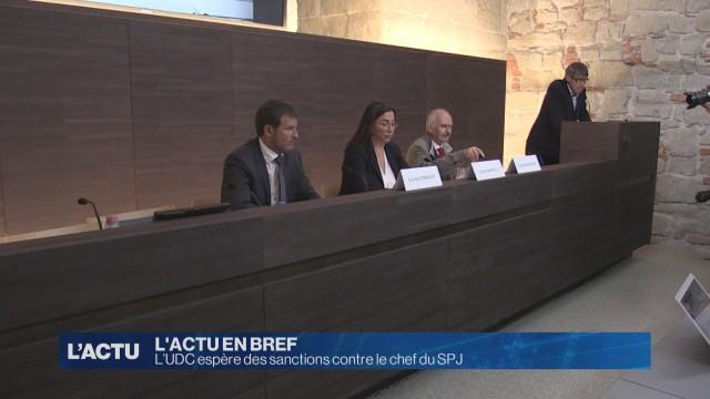 L'UDC espère des sanctions contre le chef du SPJ