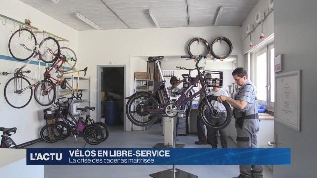 Les vélos en libre service de retour à Fribourg