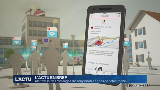 Alertswiss: Des messages d'alarme sur son portable