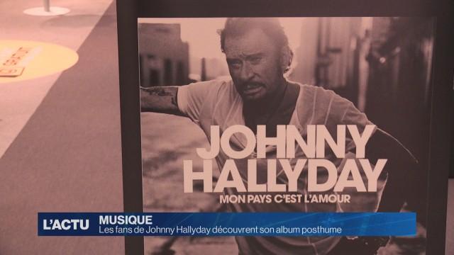 Les fans de Johnny Hallyday découvrent son album posthume