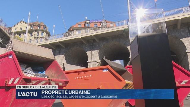 Les déchets sauvages s'exposent à Lausanne