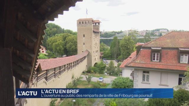 Succès pour les visites des remparts de la ville de Fribourg
