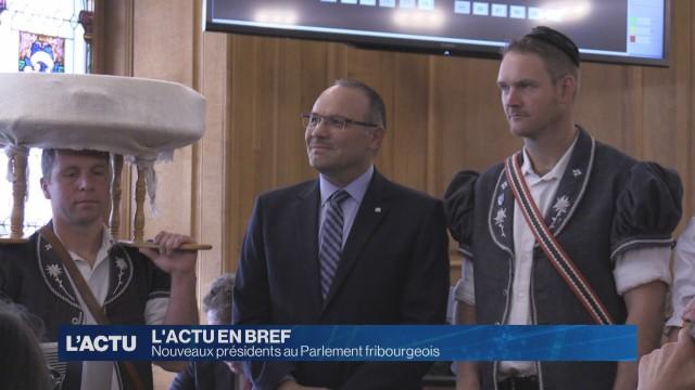 Nouveaux présidents au Parlement fribourgeois