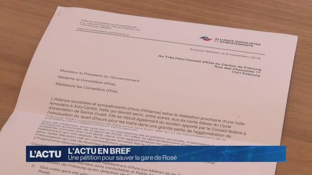 712 signatures pour sauver la gare de Rosé.