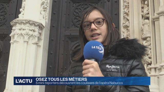 Cinq journalistes en herbe découvrent la Télé