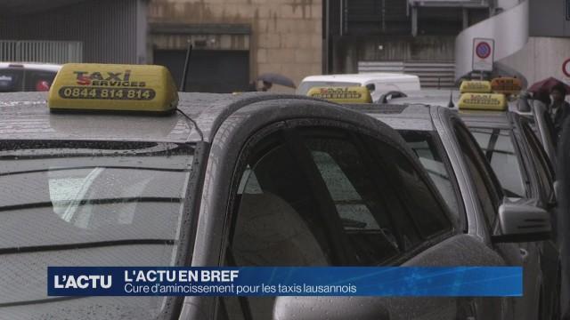 Cure d'amincissement pour les taxis lausannois
