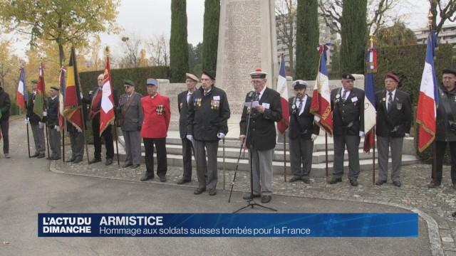 Hommage aux soldats suisses tombés pour la France