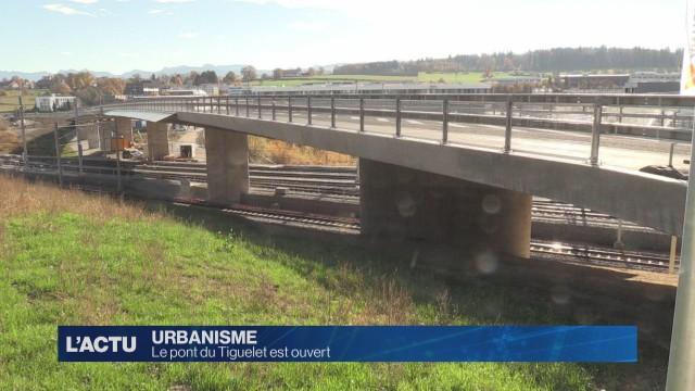 Le pont du Tiguelet est ouvert.