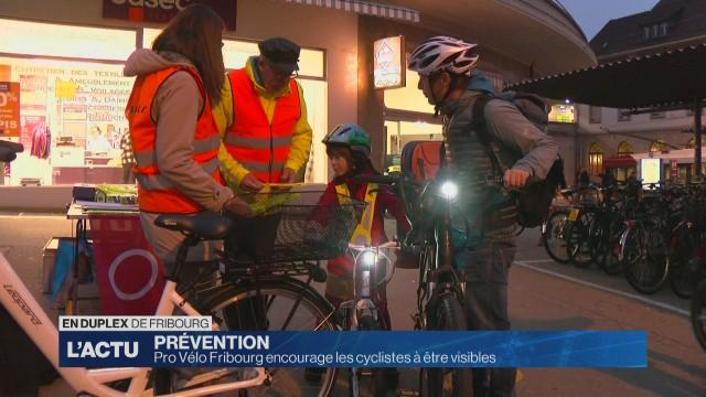 Pro Vélo Fribourg encourage les cyclistes à être visibles