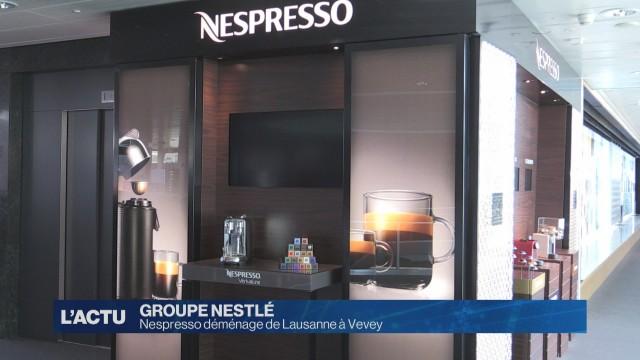 Nespresso déménage de Lausanne à Vevey