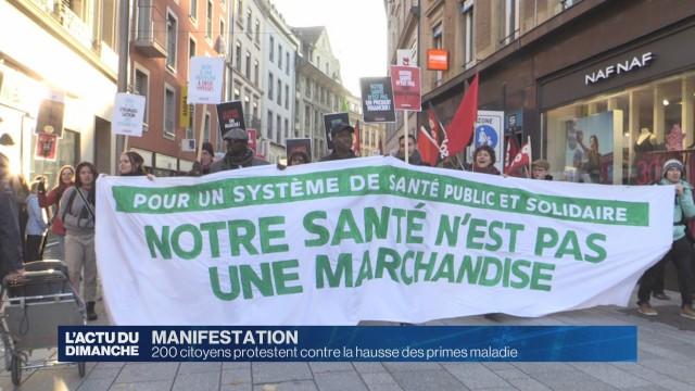 Manifestation citoyenne contre la hausse des primes maladie