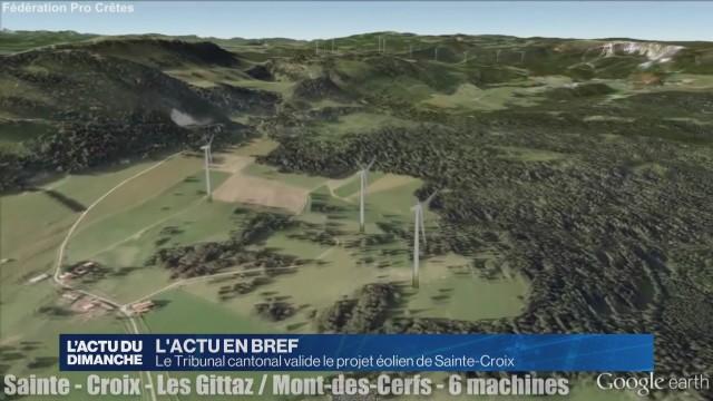 Le Tribunal cantonal valide le projet éolien de Sainte-Croix