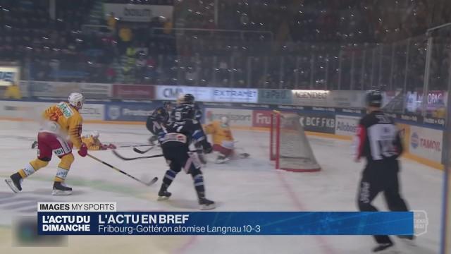 Fribourg-Gottéron atomise Langnau 10-3