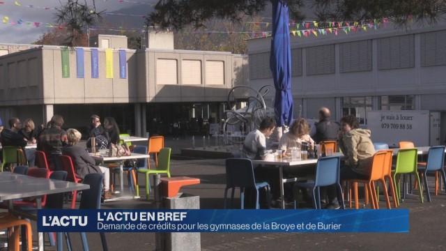 Crédits pour les gymnases de la Broye et de Burier