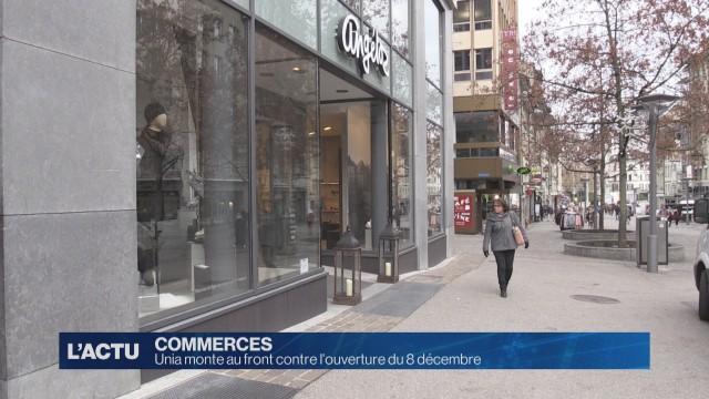 Ouverture des commerces à Fribourg le 8 décembre