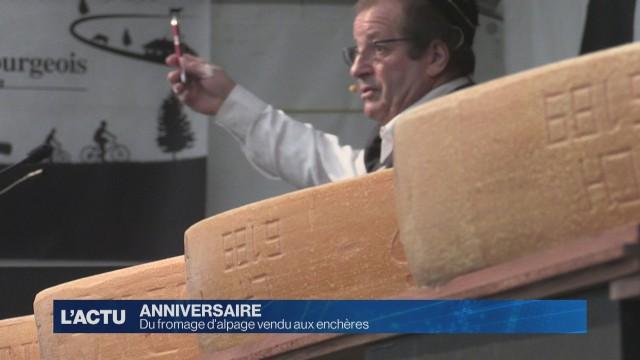 Du fromage d'alpage vendu aux enchères