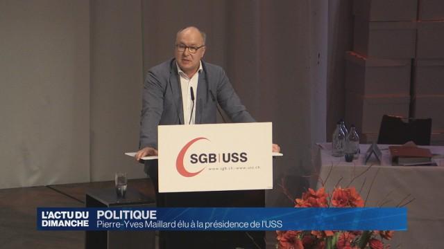 Pierre-Yves Maillard est le nouveau président de l'USS