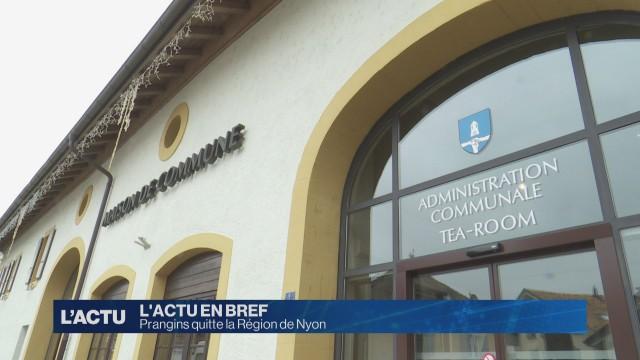 Prangins quitte Région de Nyon