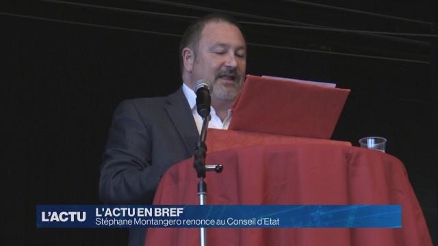 Stéphane Montangero renconce au Conseil d'Etat