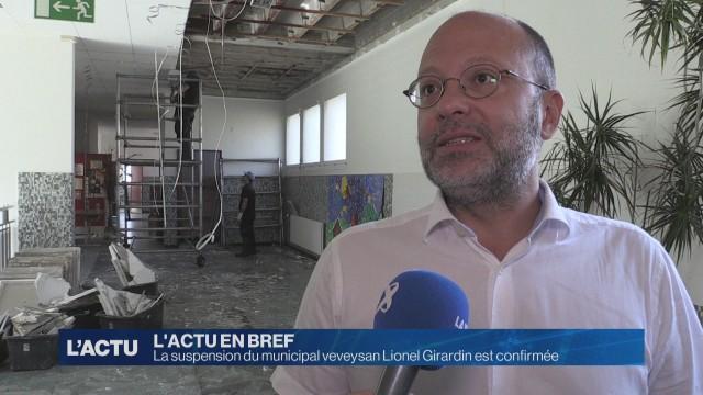 La suspension de Lionel Girardin est confirmée
