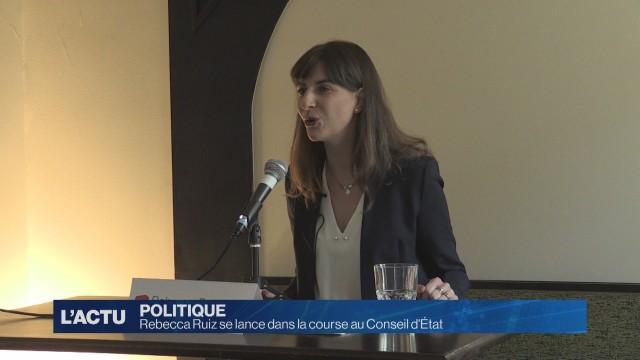 Rebecca Ruiz se lance dans la course au Conseil d'État
